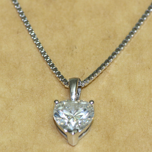 1 carat ct heart shaped solid 14k 585 white gold lab grown 1 carat ct heart shaped solid 14k 585 white gold lab grown moissanite diamond pendant necklace in necklaces from jewelry accessories on aliexpress aloadofball Image collections