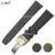 ZLIMSN Preto Nylon Pulseiras de Relógio de Couro Assista bracelete Banda Para Homens IWCwatches Digital-Relógio Digital Esporte Mens Cinta 20mm 21mm 22mm