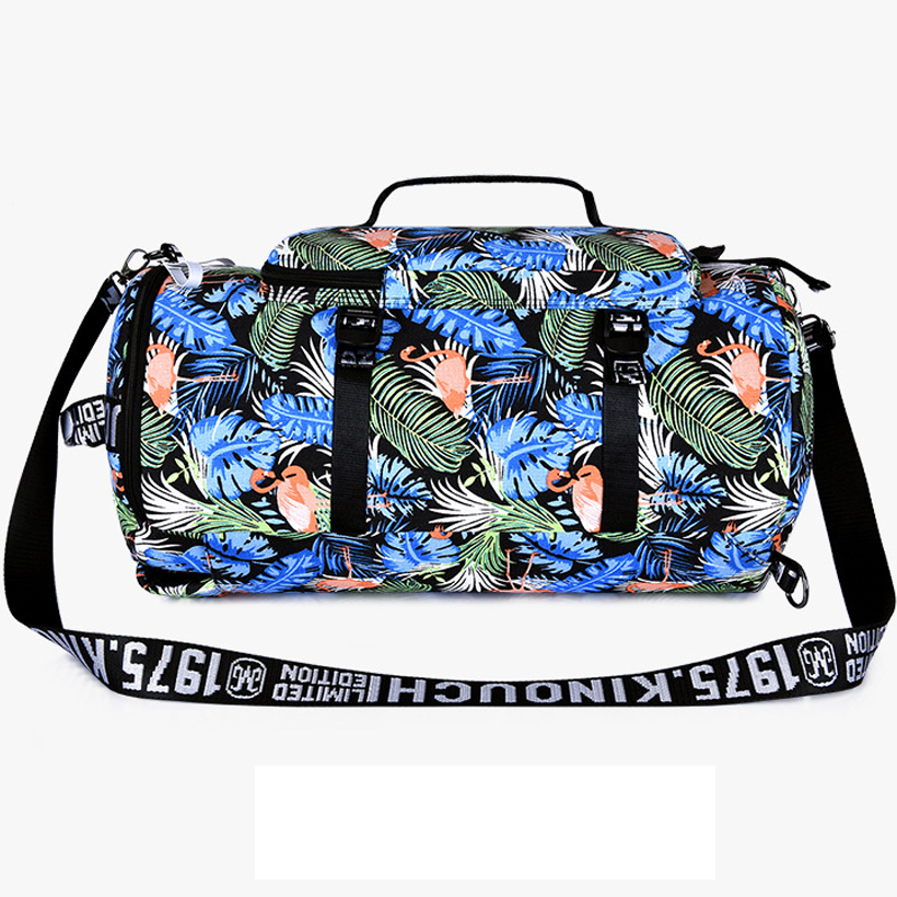 travel duffel bag Waterproof canvas big weekend bag women travel bags hand luggage Flamingo backpack weekender 2019 weekendtas in Travel Bags from Luggage Bags