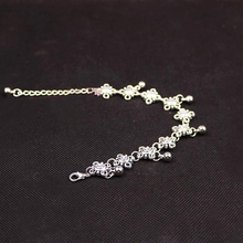 New Charm Anklets for Women Fine Jewelry Wholesale Vintage Foot Jewelry Ancient Silver Plated Flower Ankle Chain Bracelet BW584