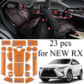 23pcs Non Slip Leather door cup slot mat storage interior mats for Lexus RX200t RX350 RX450h 2016 2017 year