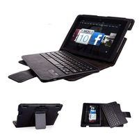 Luxury Detachable Bluetooth 3.0 Keyboard Folio Stand Leather Case Cover For Amazon Kindle Fire HDX 8.9 2013 8.9 Tablet