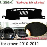 StplrgeCP For Toyota Crown Doulbe Layer Car Dashboard Cover Avoid Light Pad Instrument Platform Dash Board