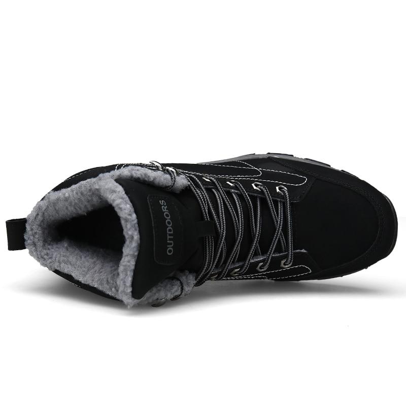 Tamanho Neve Homem Dos Sapatos Sneakers Homens marrom amarelo Luxo Grande 46 Up Alta Trabalho Chaussures Botas De Inverno Marca Segurança Lace Casual Top Homme Preto Do wwqAUTO