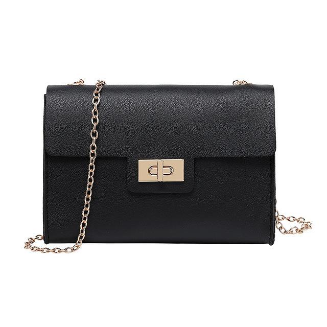 Women's Multicolor Leather Hasp Handbag