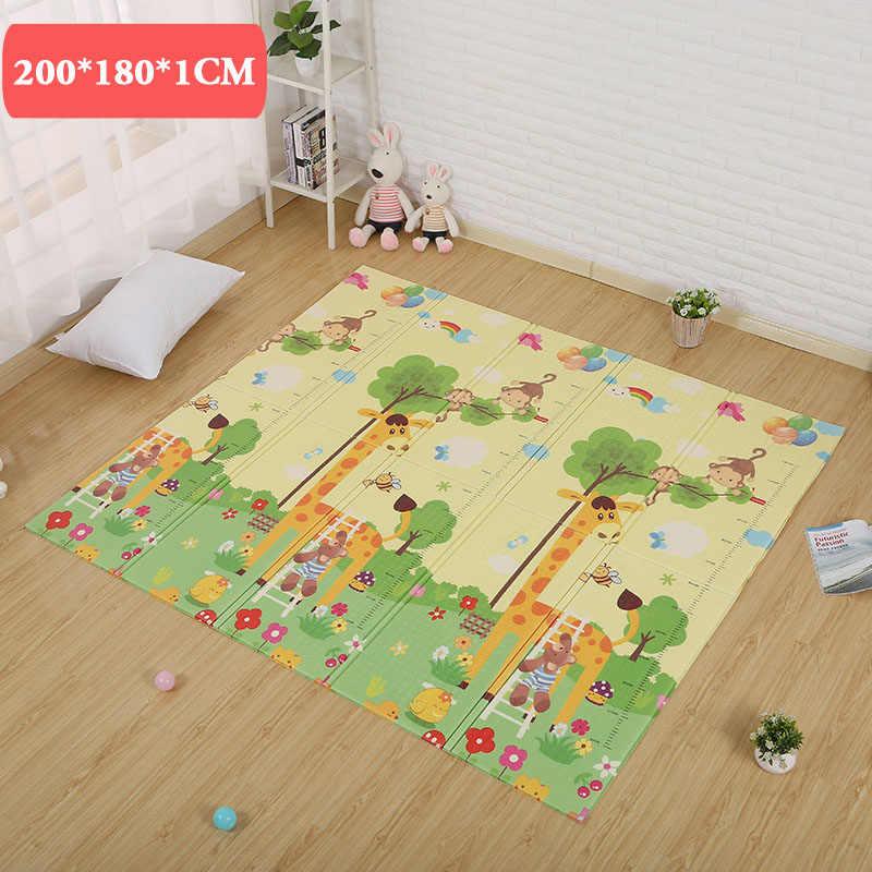 180*200*1 см tapete infantil детские подкладки игровые коврики игрушки для детей Детский игровой коврик мягкий пол