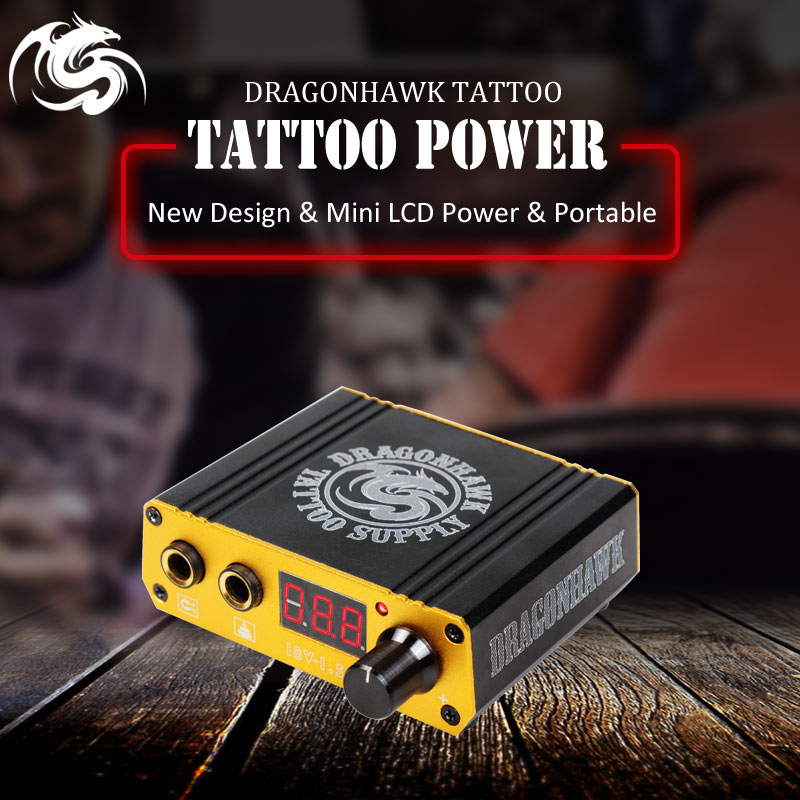 Professionele Tattoo Voeding Digitale Dual LCD Display Tattoo Voeding voor Tattoo Machines
