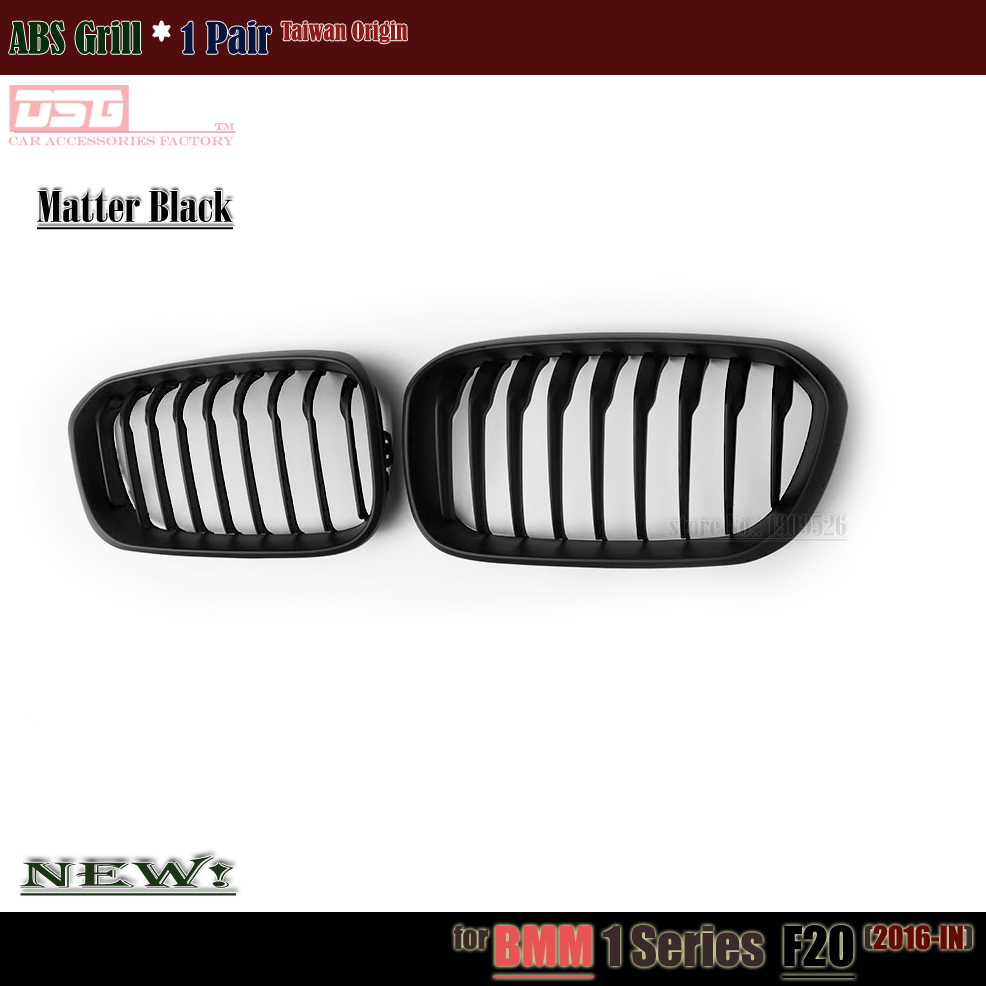 Replacement F20 ABS Grill Front Kidney Grille Mesh for BMW 1 Series F20 F21 LCI 2015 - IN 118i M135i 116d 120i 120d Matte Black f20 abs grill front bumper hood grille for bmw f21 2010 2014 page 4