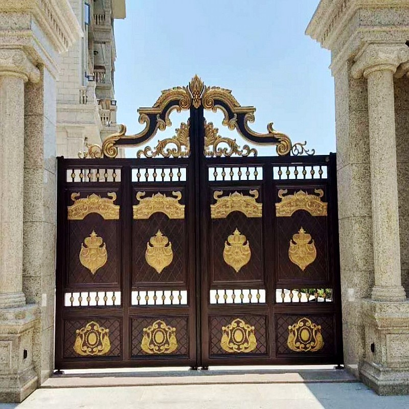 House Gate Designs Main Entrance Gate Design Cast Aluminum Iron Main Gate Hc A8 Doors Aliexpress