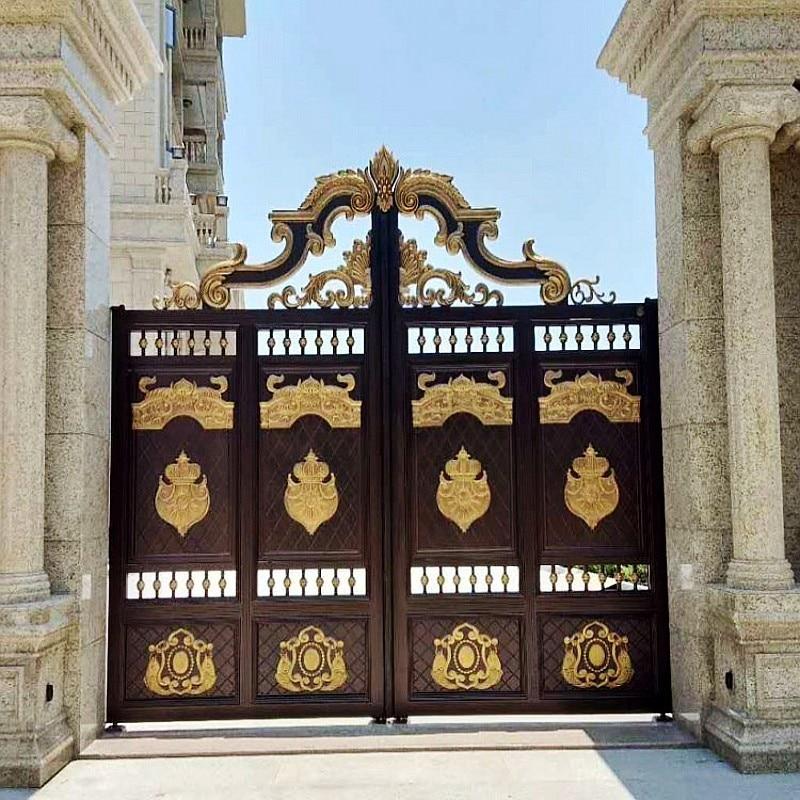 House Gate Designs/main Entrance Gate Design/cast Aluminum Iron Main Gate Hc-a8