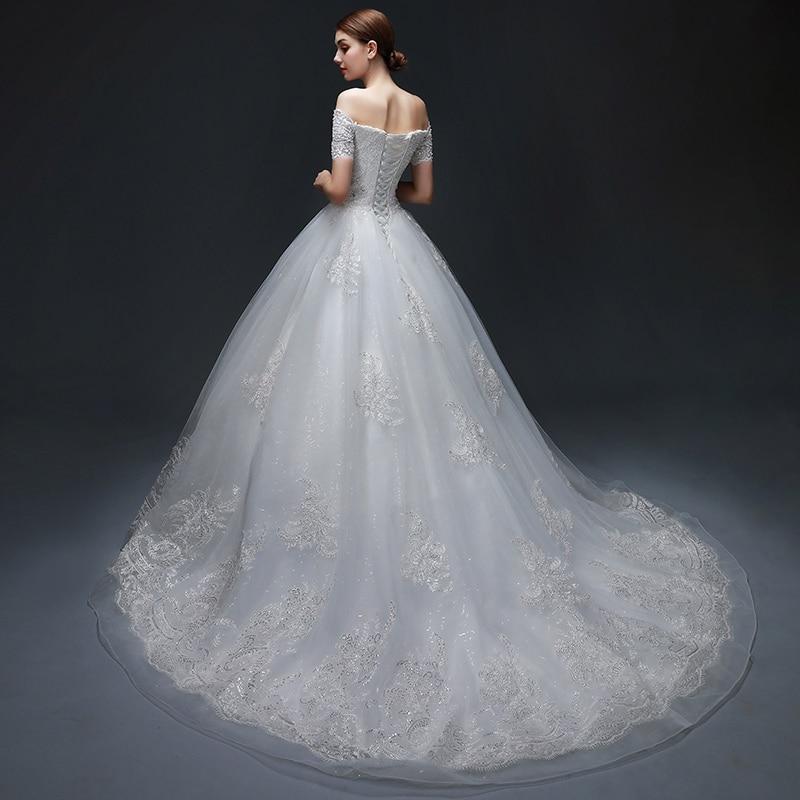 Vestido de Noiva Off-the-ώμου μπάλα φόρεμα - Γαμήλια φορέματα - Φωτογραφία 3