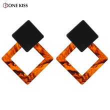 Korea Style Simple Geometry Earring for Women Fashion Acrylic Personality Statement Stud Earring Pendientes 2018 Feeme Bijoux(China)