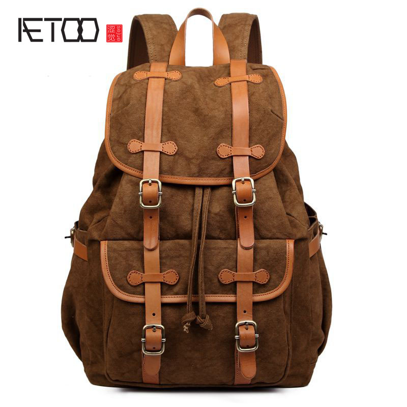 AETOO Backpack Korean version of the  shoulder bag with canvas backpack 2017 newAETOO Backpack Korean version of the  shoulder bag with canvas backpack 2017 new