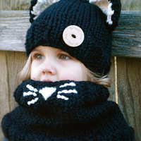 New Cat Ears Lovely Children Wool Hat Autumn And Winter Fashion Warm Hand Knitted Hat