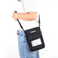 RFID antirrobo seguridad monedero Masajeadores de cuello bolsa de viaje correa del teléfono celular del bolso pasaporte cremallera bolsa titular de la tarjeta