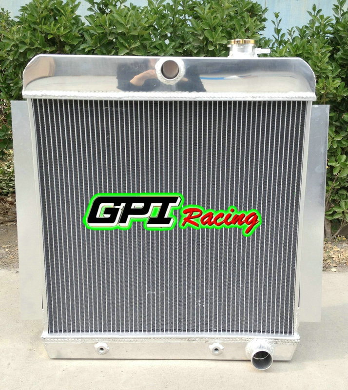 3ROW FULL ALUMINUM RADIATOR 55-59 CHEVY//GMC 100//150 TRUCK PICKUP l6//V8