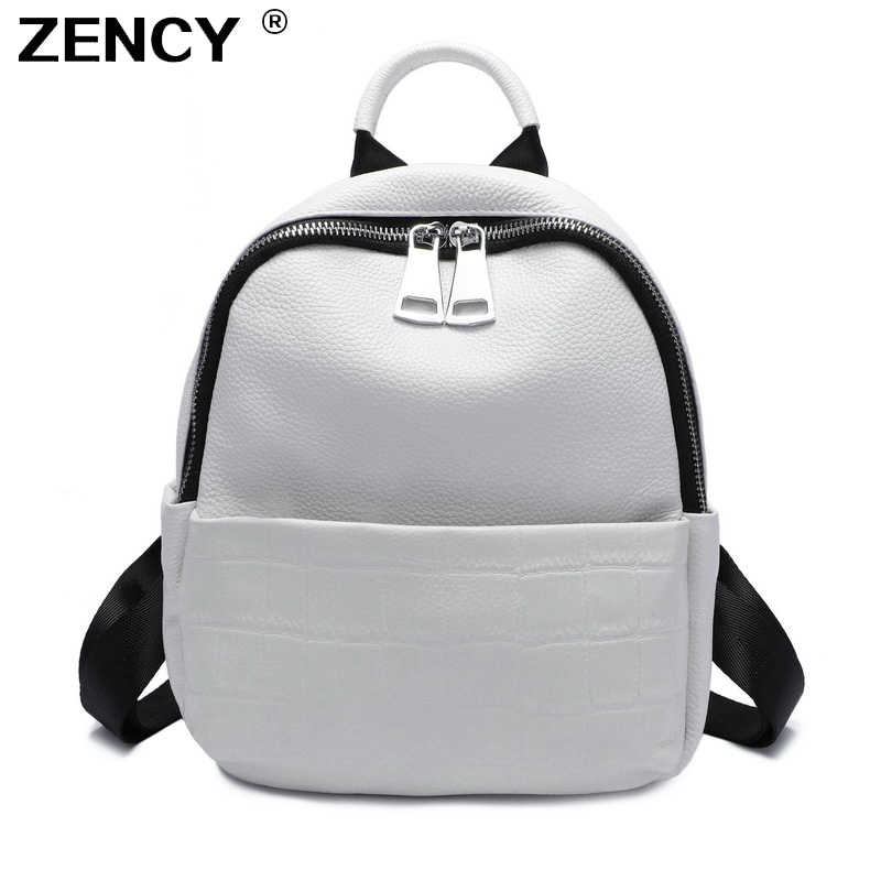 New 2019 Small Summer Soft Natural Genuine Leather First Layer Cow Leather Women Backpack Ladies Cowhide