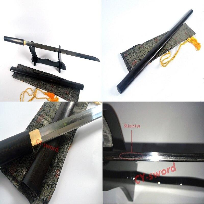 hlína temperovaná kobuse ostří japonský zatoichi katana shirasaya meč rosewood
