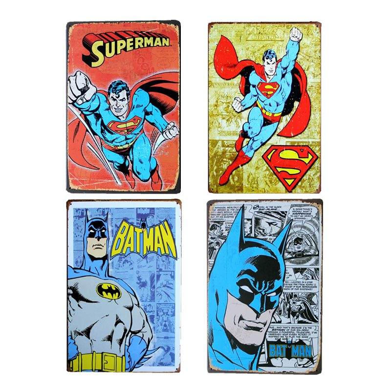 BATMAN Logo Superhero Hero Tin Sign Metal Poster