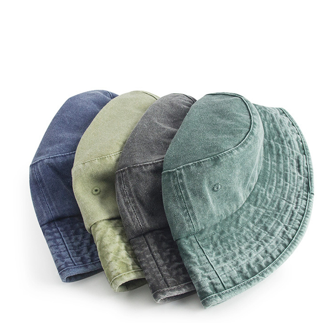 2dfee95ba2cd1 MAXSITI U Vintage washed cowboy parent bucket hats men and women foldable  solid fisherman hat