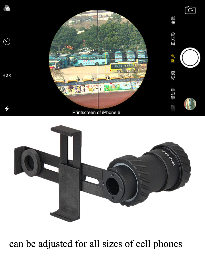 Mount Scopes-Accessories Camera Cell-Phone-Adapter-Mount Rifle-Scope Universal Hunting