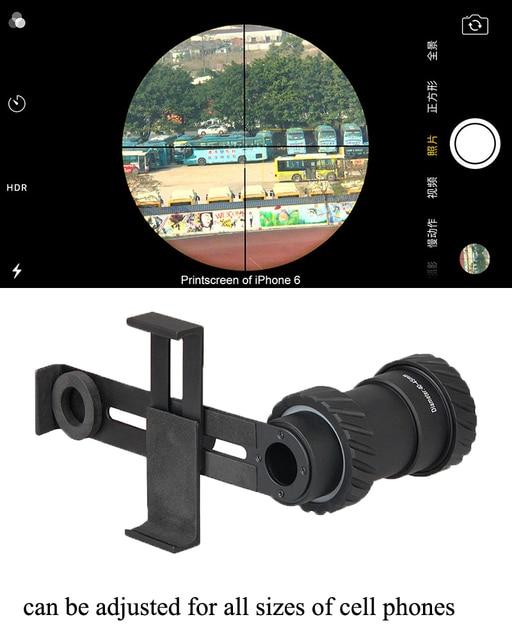 PPT Adaptador de Telefone Celular Universal Montar Rifle Scope Mount Para A Câmera Para A Caça scopes acessórios GZ33-0202