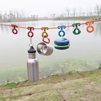Useful Convenient Durable Aluminum Rope Hangers Set 2