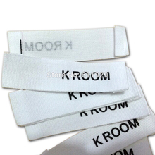 Free shipping pure white cotton printed labels/Screen Printing clothing labels/garment tags/trademarks/main labels