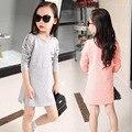 No convencionales de moda primavera otoño adolescente Blusa vestido para niñas adolescentes hijos únicos de lujo impresión del oso de dibujos animados ropa de primavera