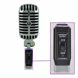 Image 4 - FREEBOSS FB W01 przewodowy dynamiczny mikrofon Retro styl Vintage profesjonalny Karaoke KTV Studio Mic Jazz Stage wokalny mikrofon