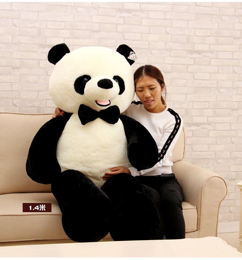Énorme 140 cm sourire géant panda en peluche poupée douce étreindre oreiller cadeau d'anniversaire h2389