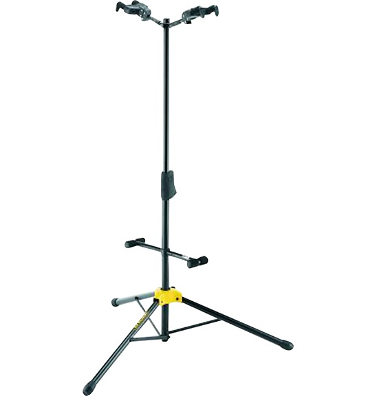 Hercules Stands GS422B Duo Stand Guitar Stand hercules gs301b travelite acoustic guitar portable travel mini steel stand