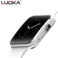 LUOKA Newt Bluetooth Smart Watch X6 Sport Passometer Smartwatch With Camera Support SIM Card Whatsapp Facebook