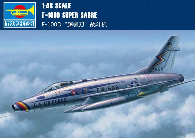 Trumpeter 1/48 02839 F-100D Super Sabre Model Kit