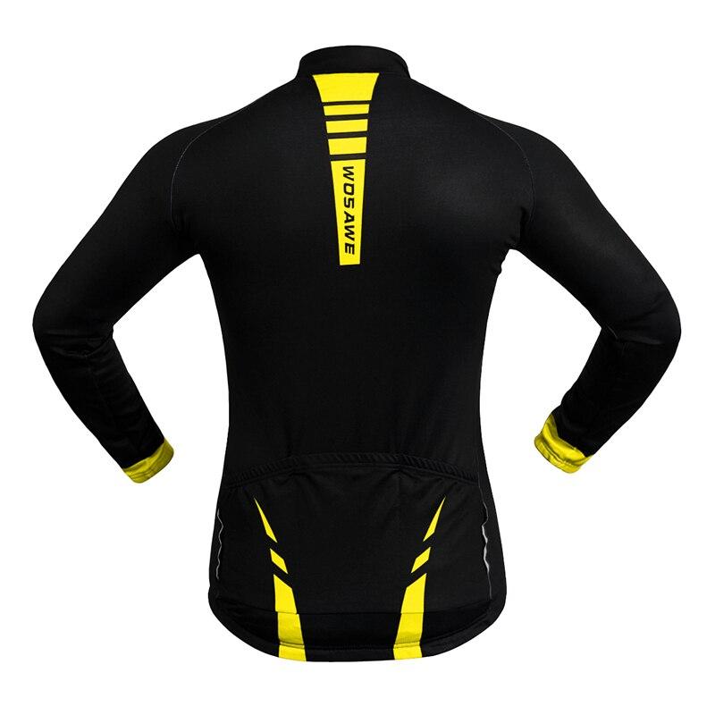 WOSAWE termiske cykeljakker Gule vindtæt langærmet trøje MTB cykel - Cykling - Foto 3