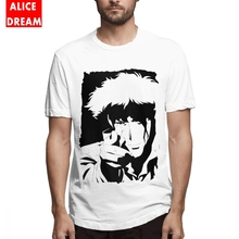 Cowboy Bebop T Shirt For Men New Homme Tee Shirt Pure Cotton S-6XL Camiseta 3D Print Cartoon t shirt casual cowboy bebop tee shirt unique design camiseta round collar s 6xl tee birthday gift t shirt 3d print