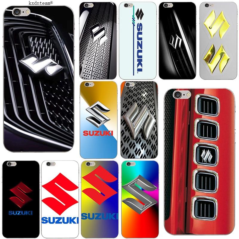 GSX Suzuki Logo Soft TPU Silicon Mobile Phone Cases Transparent Cover for iPhone 8 7 6
