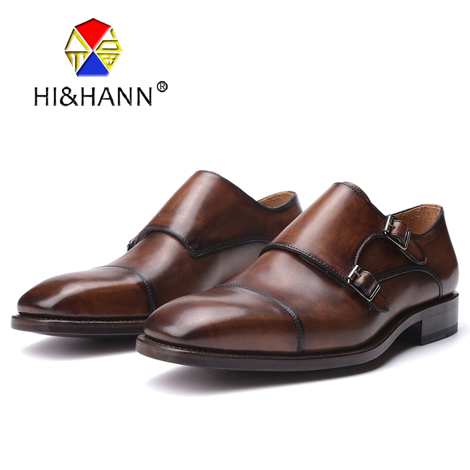 Brown Buckle Strap Goodyear Handmade Shoes Men Derby Dress shoe Men Flats Size US 6-13 Free shipping sports yoga slipper women anti slip cotton cycling socks ladies pilates socks ballet heel protector professiona yoga dance socks