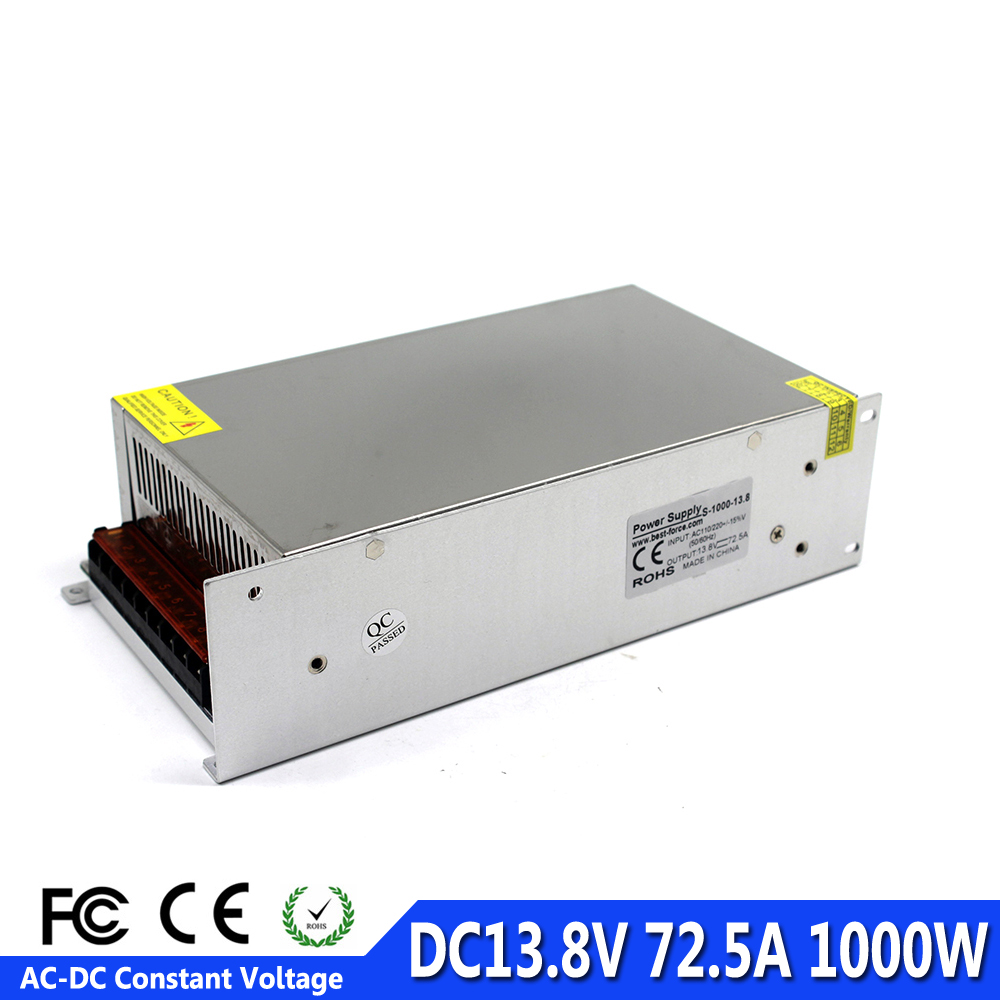 Single Output 1000W 72 5A 13 8V DC power supply Switching Driver Transformer 110V 220V AC