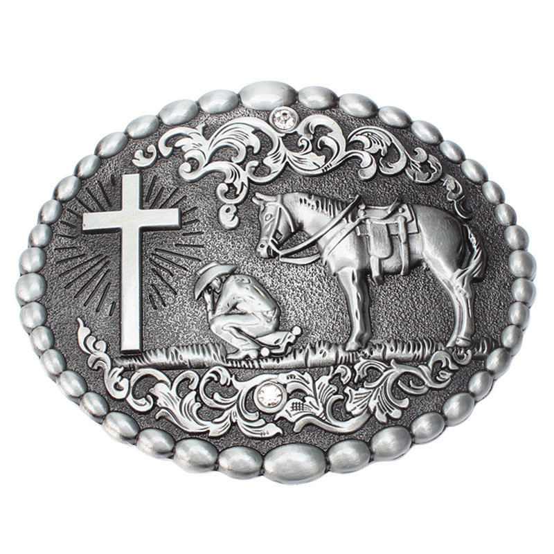 Western Style Belt Buckle Alloy Belt Buckle