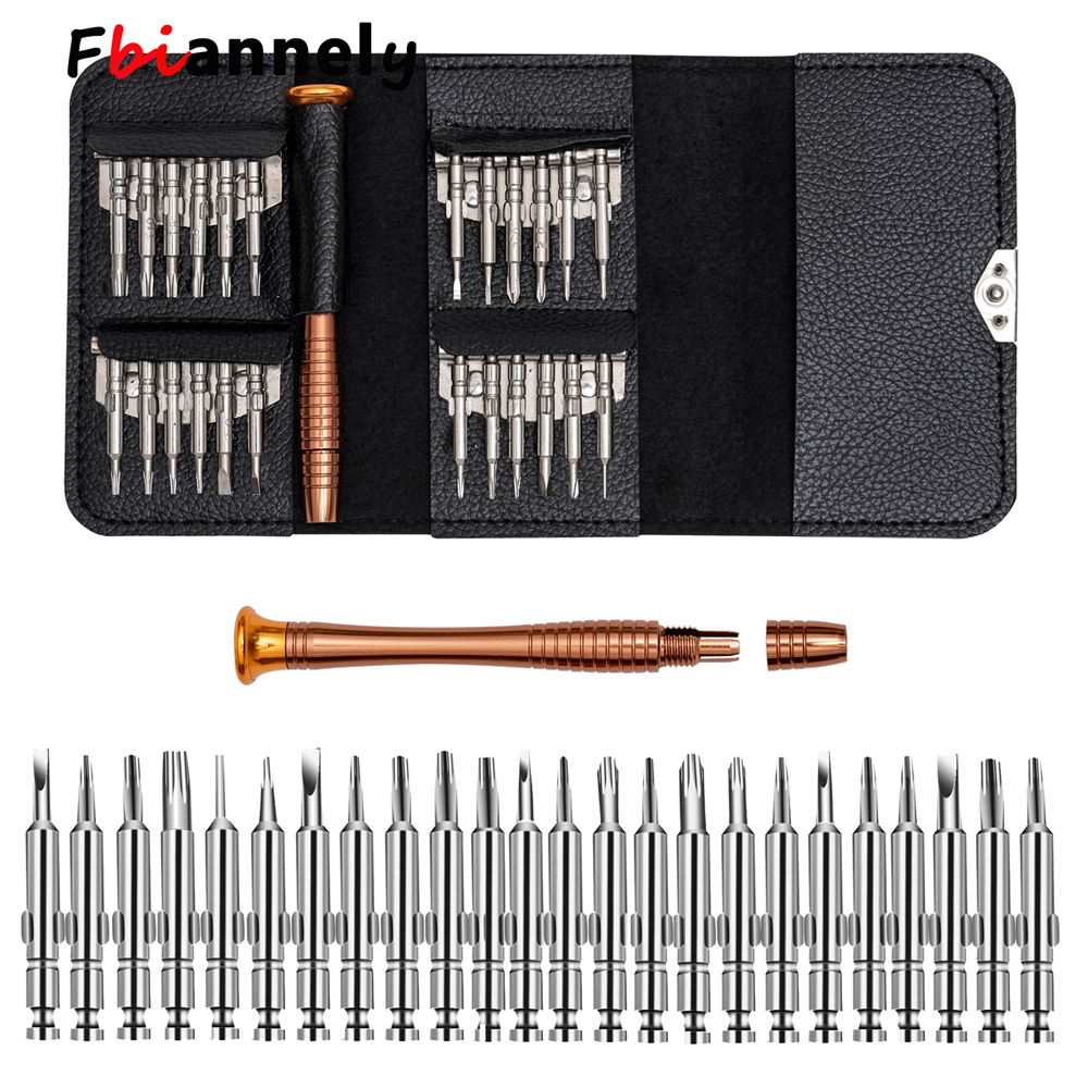 Leather Case 25 In 1 Torx Screwdriver Set Mobile Phone Repair Tool Kit Multitool Hand Tools For Iphone Watch Tablet PC 2018 New 1