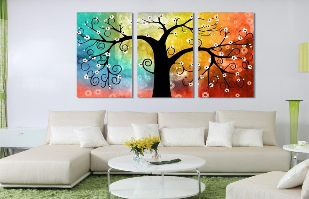 Home decoration lucky tree canvas prints picture multi for Decoracion hogar aliexpress