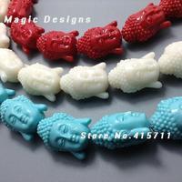 C150630053 30 30szt mieszane kolory szczęśliwy budda koraliki biżuteria szczęście fortuna duchowe