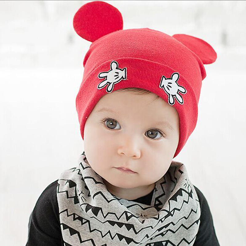 2d58e935278 Baby Kids Autumn Winter Warm Cotton Beanie Hat Toddler Infant Girls Boys  Caps Cute Baby Cartoon bear ear Beanies 1pc-in Hats   Caps from Mother    Kids on ...