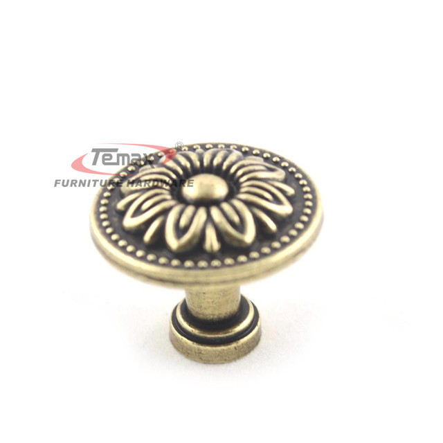 6pcs 32mm Hot Bronze Vintage Antique Dresser Drawer Pulls Kitchen Cabinet Knobs Furniture Handle Hardware A1045