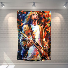 """NIRVANA"" Rock Band Poster Hanging Painting Wall Sticker 56X36 Cm Tessuto Banner Musica per Banchetti Home Decor(China)"