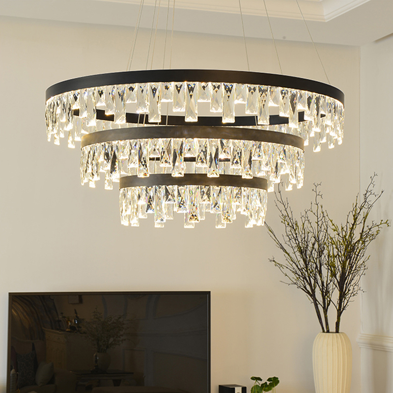Crystal Pendant Lights Modern led Ring Pendant Lamps Living Room led Crystal Hanging Lamp Bedroom Dining Room led Light Fixtures circle new modern led pendant light for dining room living room bedroom study room lustures led pendant lamps lighting fixtures