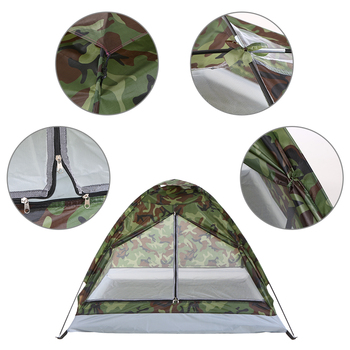 TOMSHOO 1/2 Person Camping Tent Beach Tent Single Layer Tent Portable Camouflage Polyester PU1000mm Camping Hiking Outdoor Tent 4