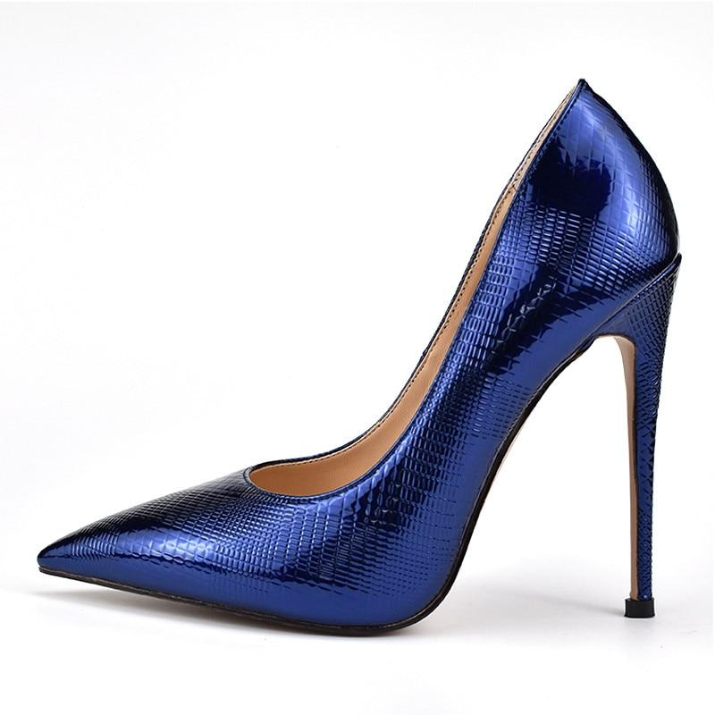 Bout Pointu Stylets 2018 Mariage Talons Sexy Bureau Qualité De Hauts Morazora Des Bleu Chaussures Partie Pompes Femmes Top FIHzXH