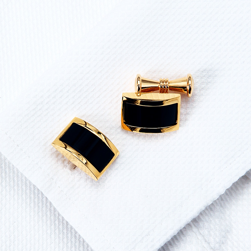 KFLK skjorta manschettknappar för män Märke Guldfärgskedja Mode - Märkessmycken - Foto 6